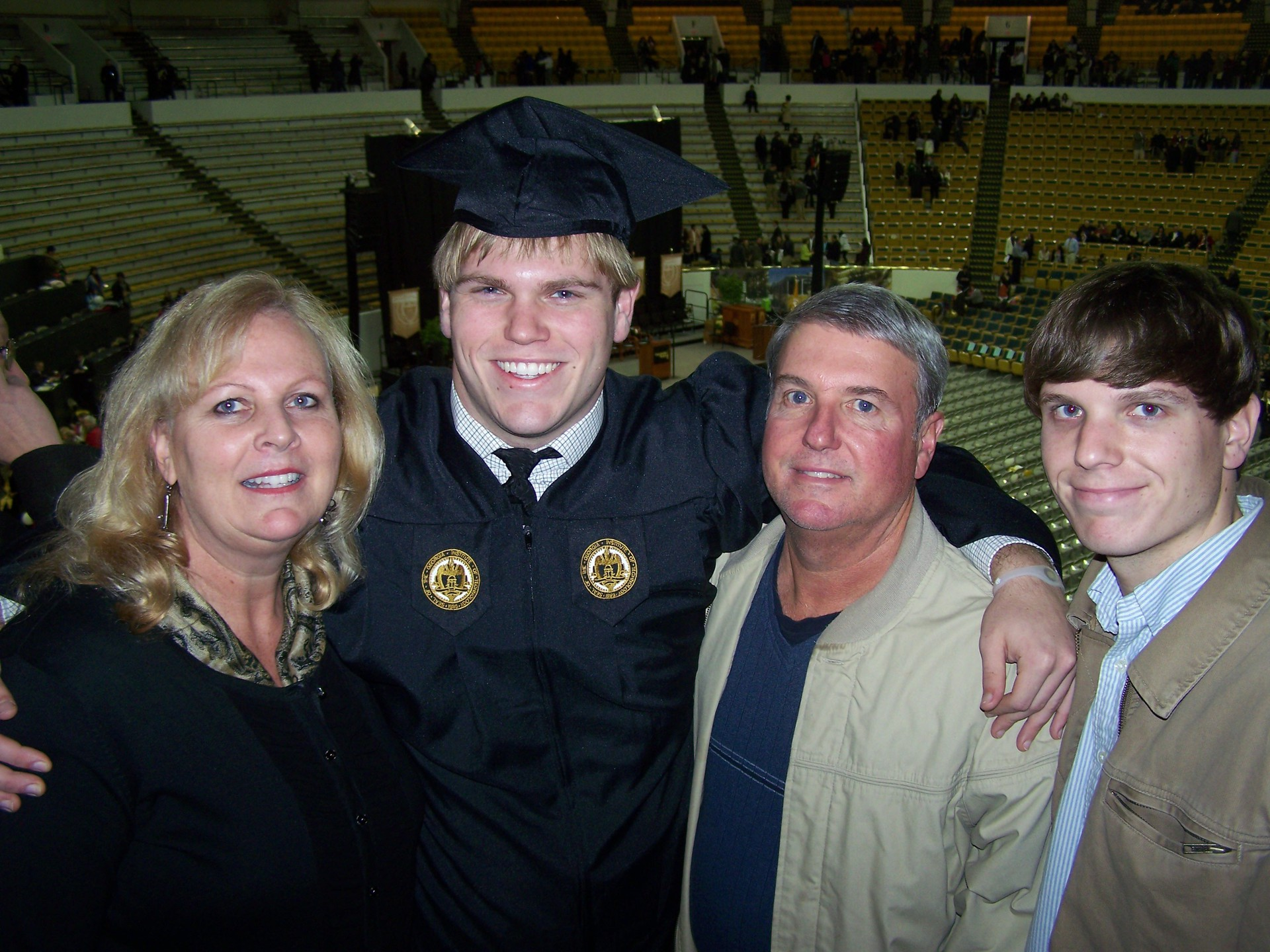 Caleb Mock, our son, college graduation