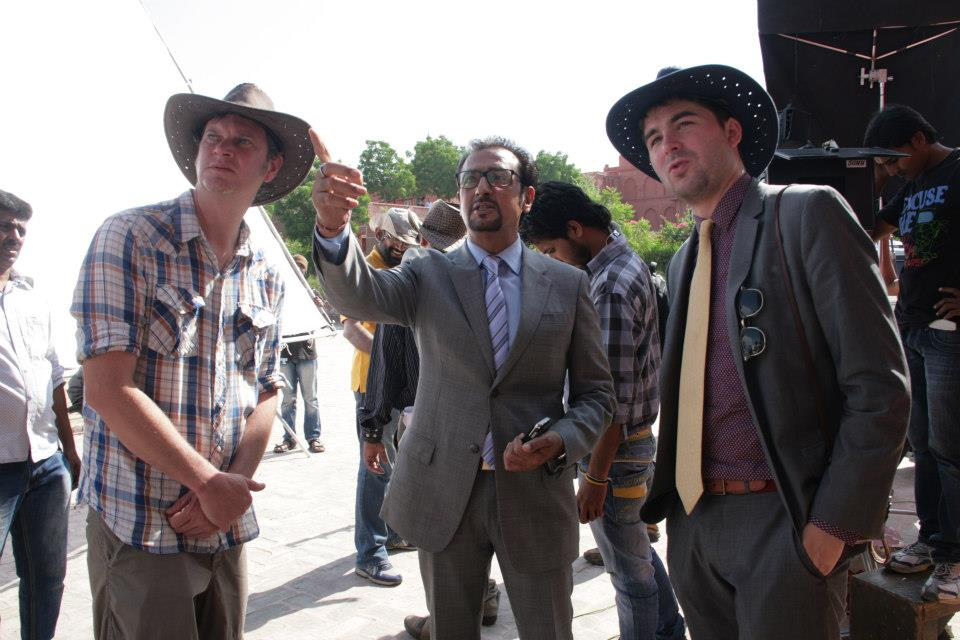 Director-James-Kicklighter-Desires-Of-The-Heart-India-Gulshan-Grover-Tim-Gill-On-Set