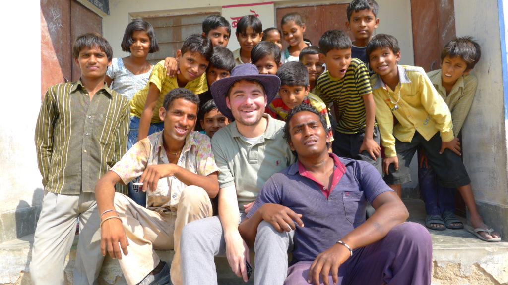 Director James Kicklighter on the set of Desires of the Heart in Rajasthan, India