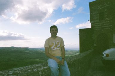 Director James Kicklighter in Montepulciano, Italy on Study Abroad making his documentary film Di Passaggio
