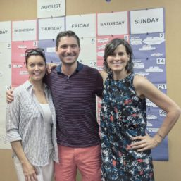 Director James Kicklighter and Bellamy Young on the campaign trail for Hillary Clinton