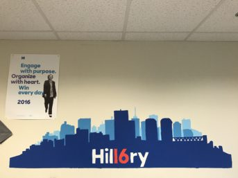 Inside our campaign office.